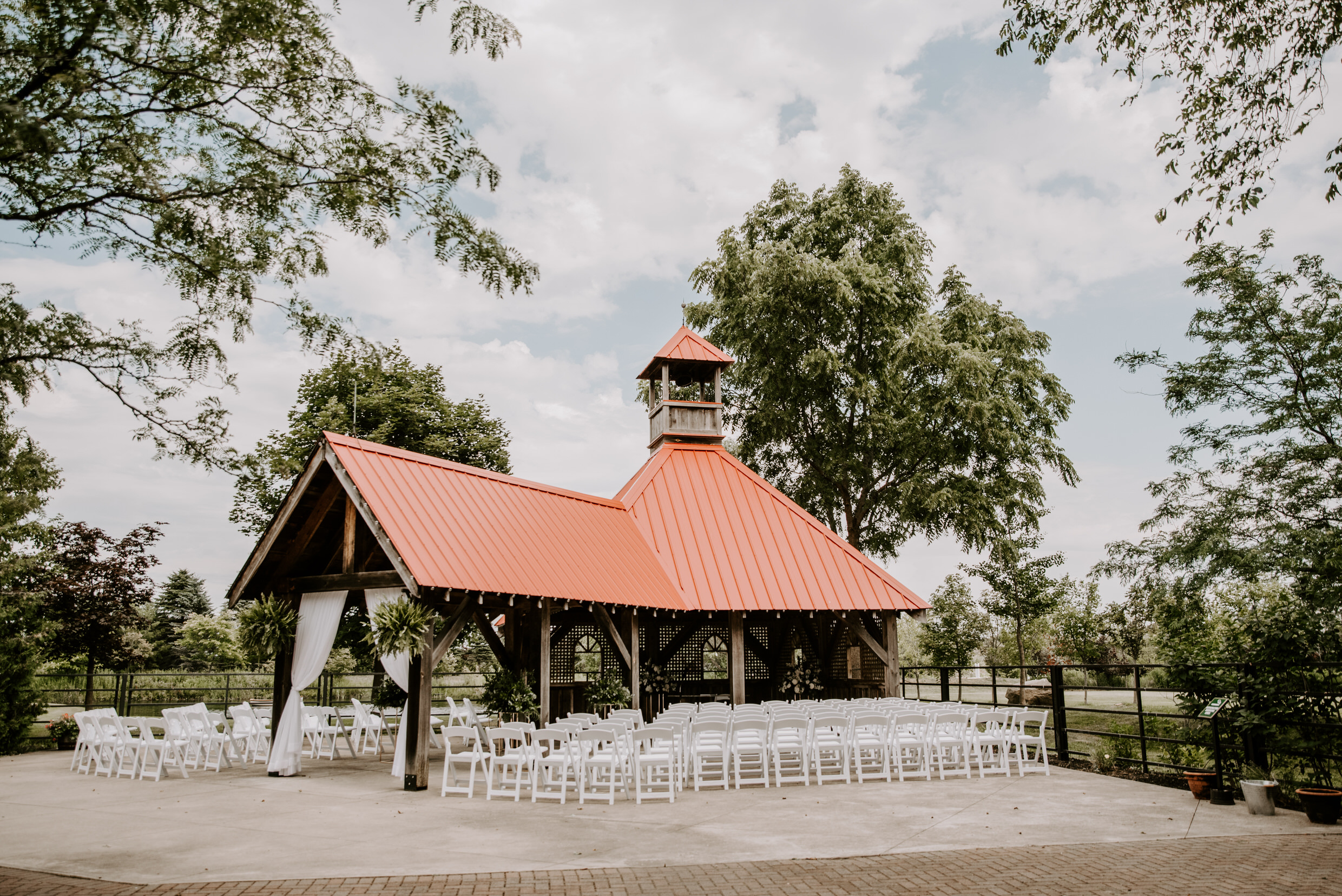 Belcroft Estates Wedding - gazebo ceremony