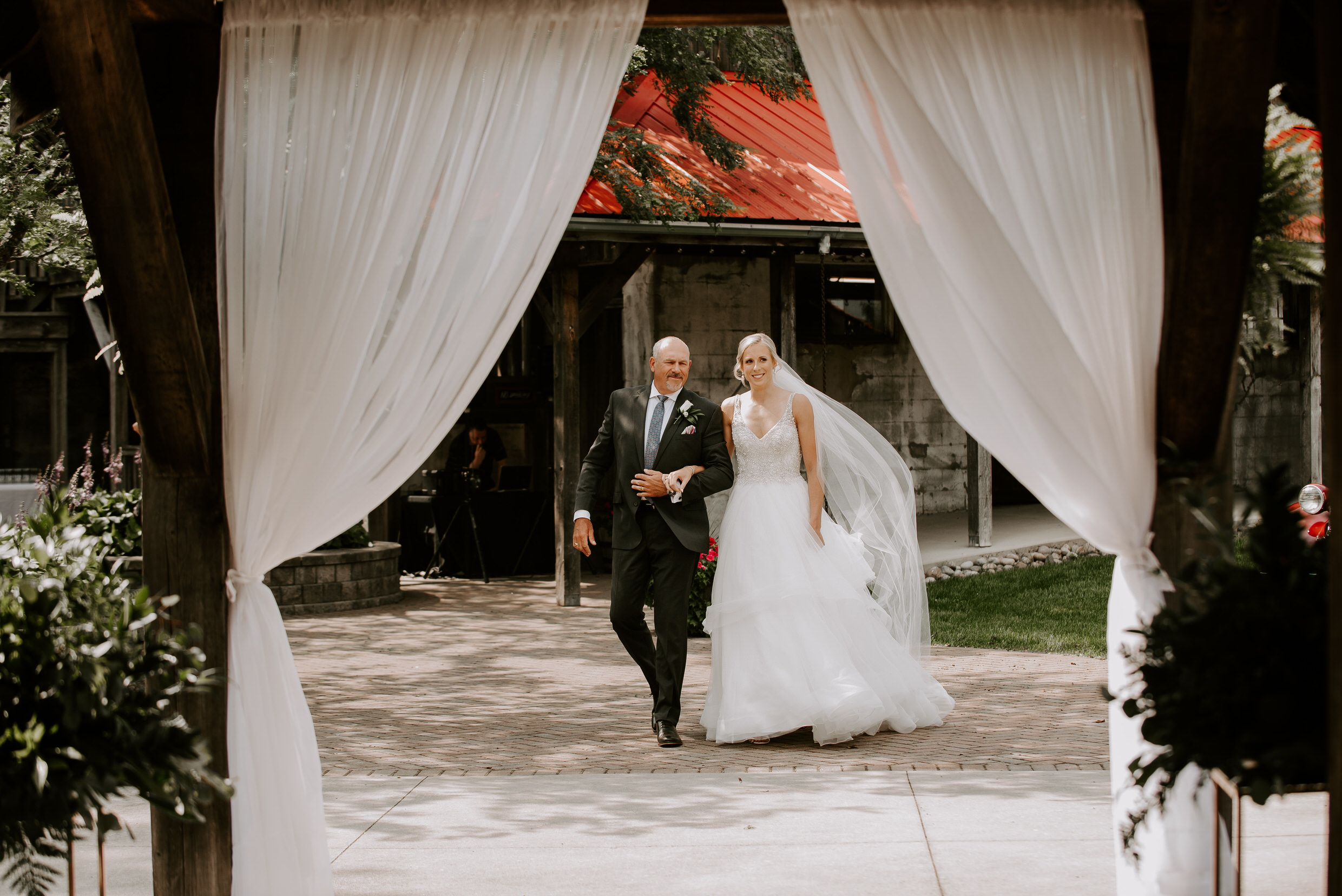 Belcroft Estates Wedding - walking down the aisle