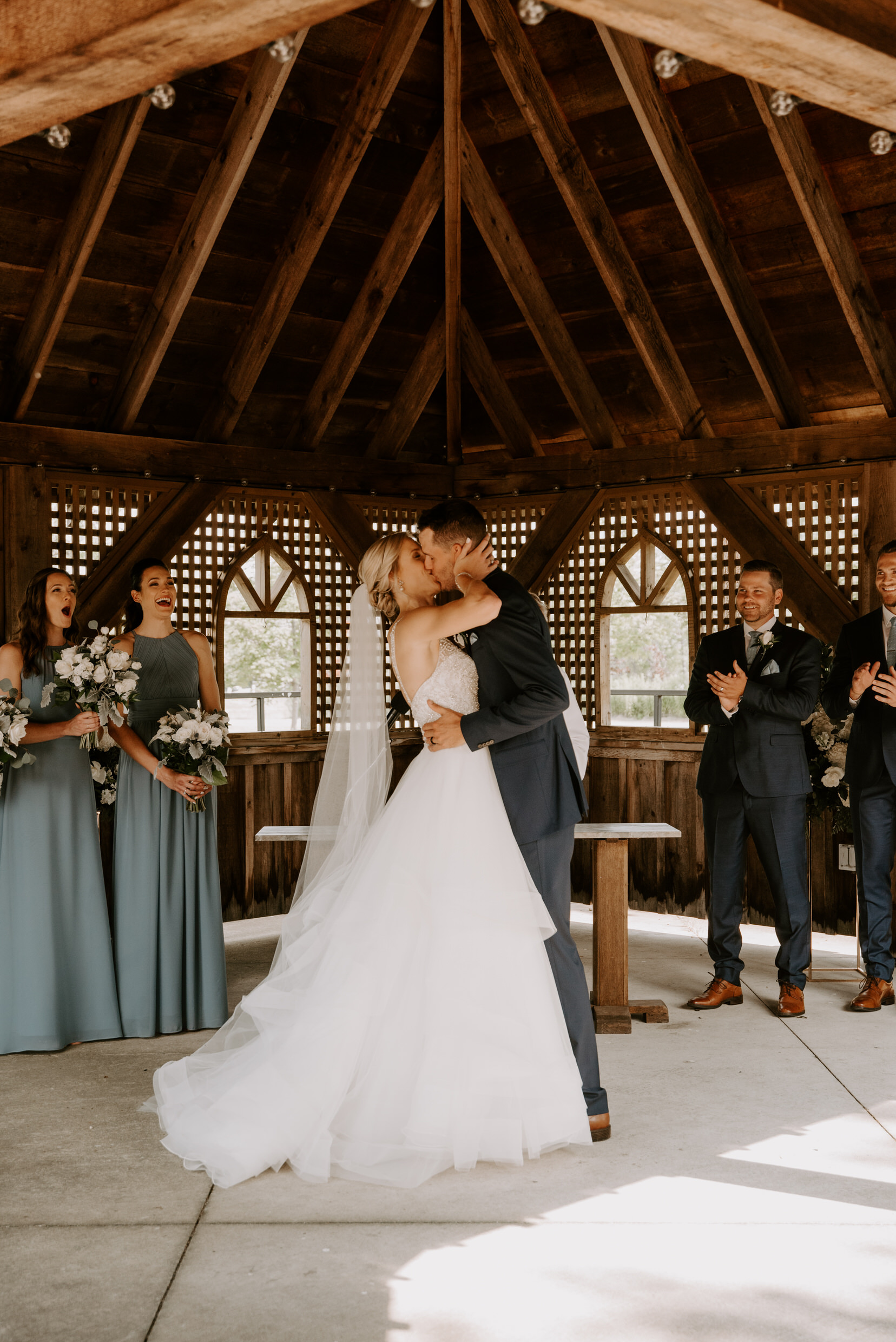 Belcroft Estates Wedding - the kiss