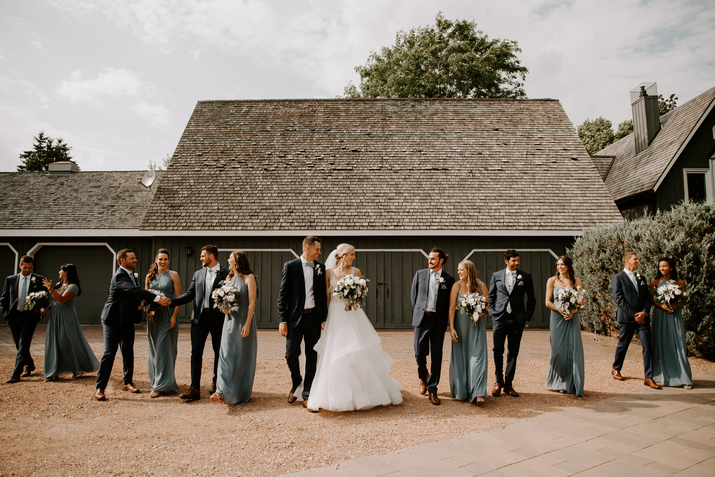 Belcroft Estates Wedding - wedding party barn portraits