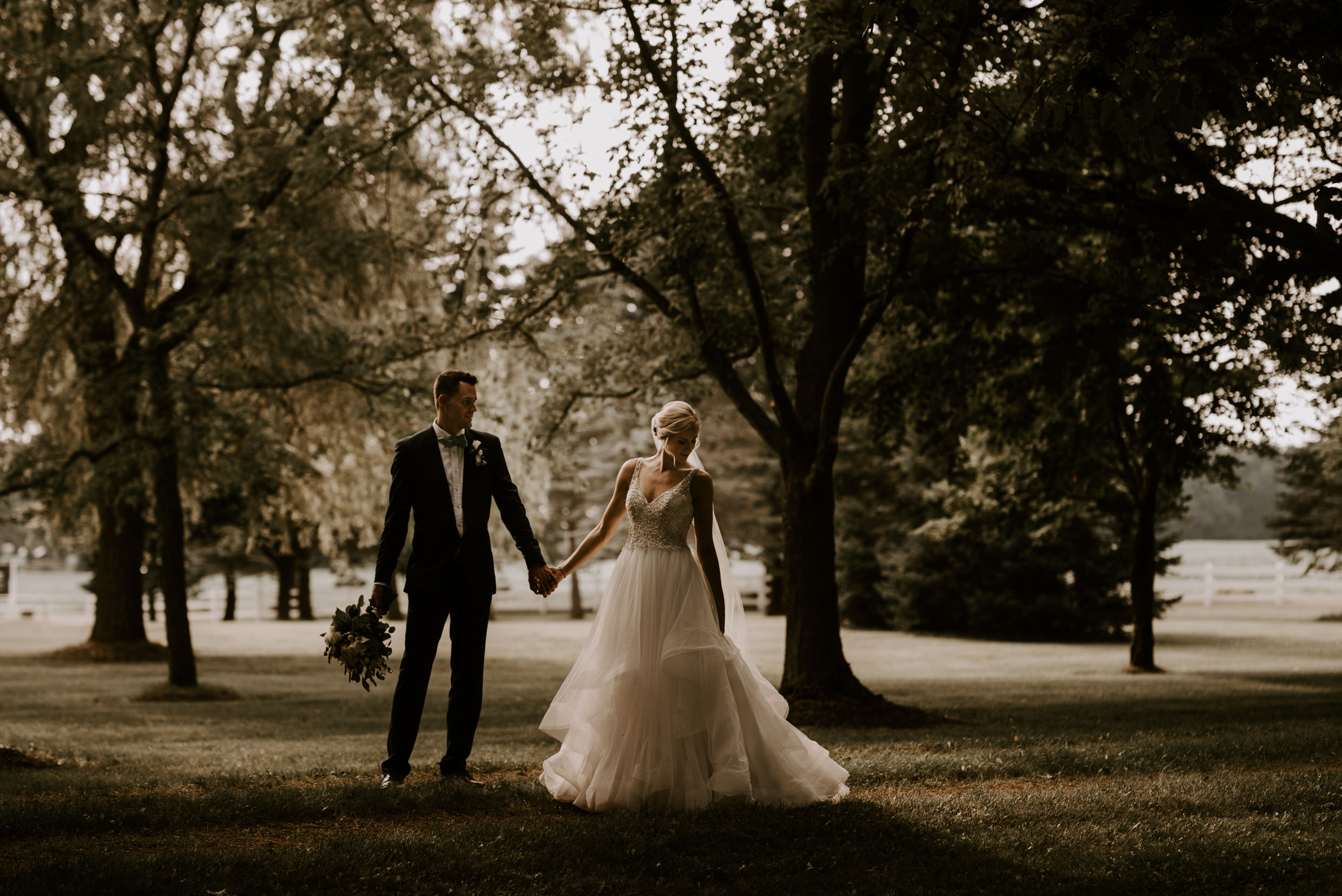 Belcroft Estates Wedding - bride and groom dramatic portrait