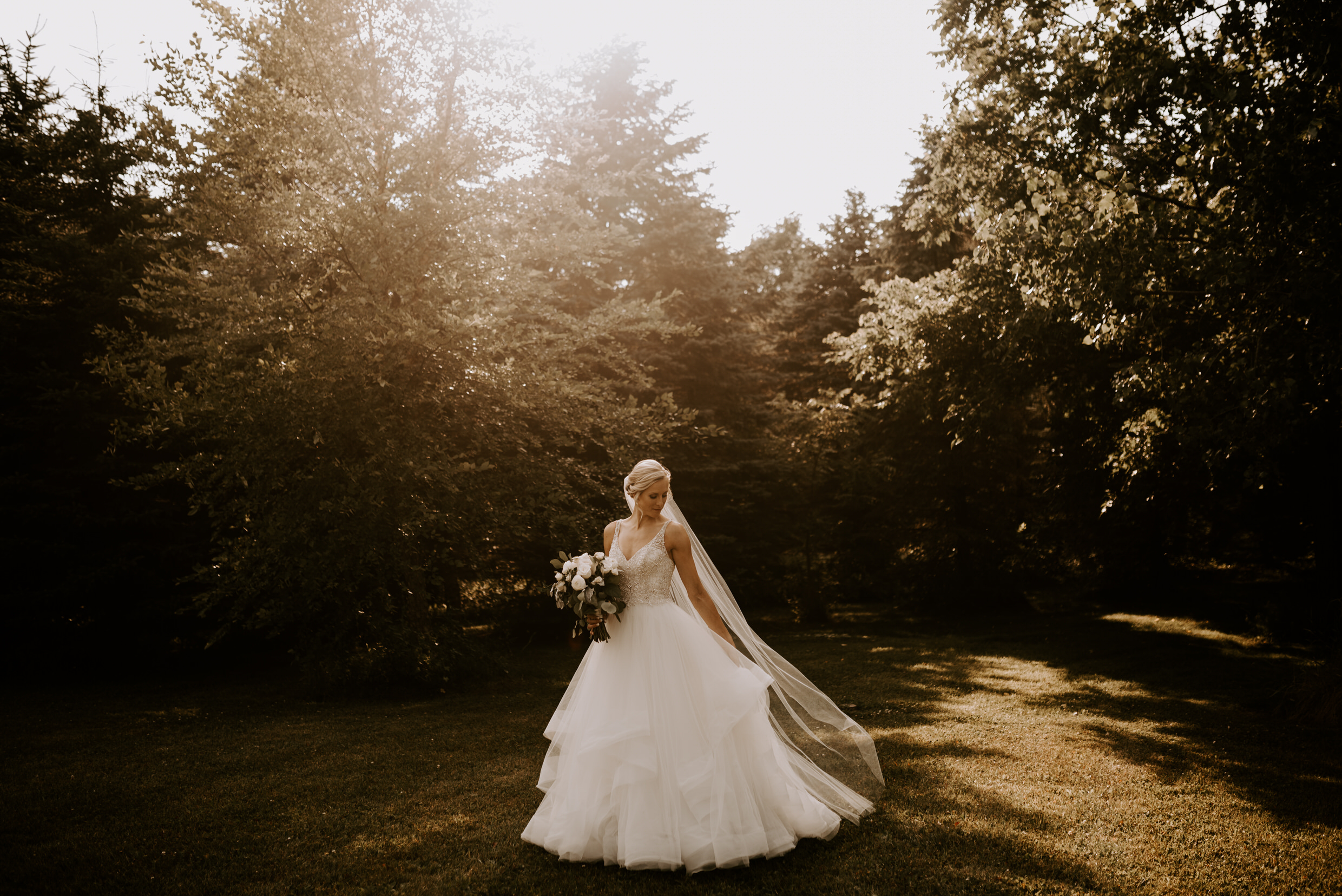 Belcroft Estates Wedding - portrait of the bride