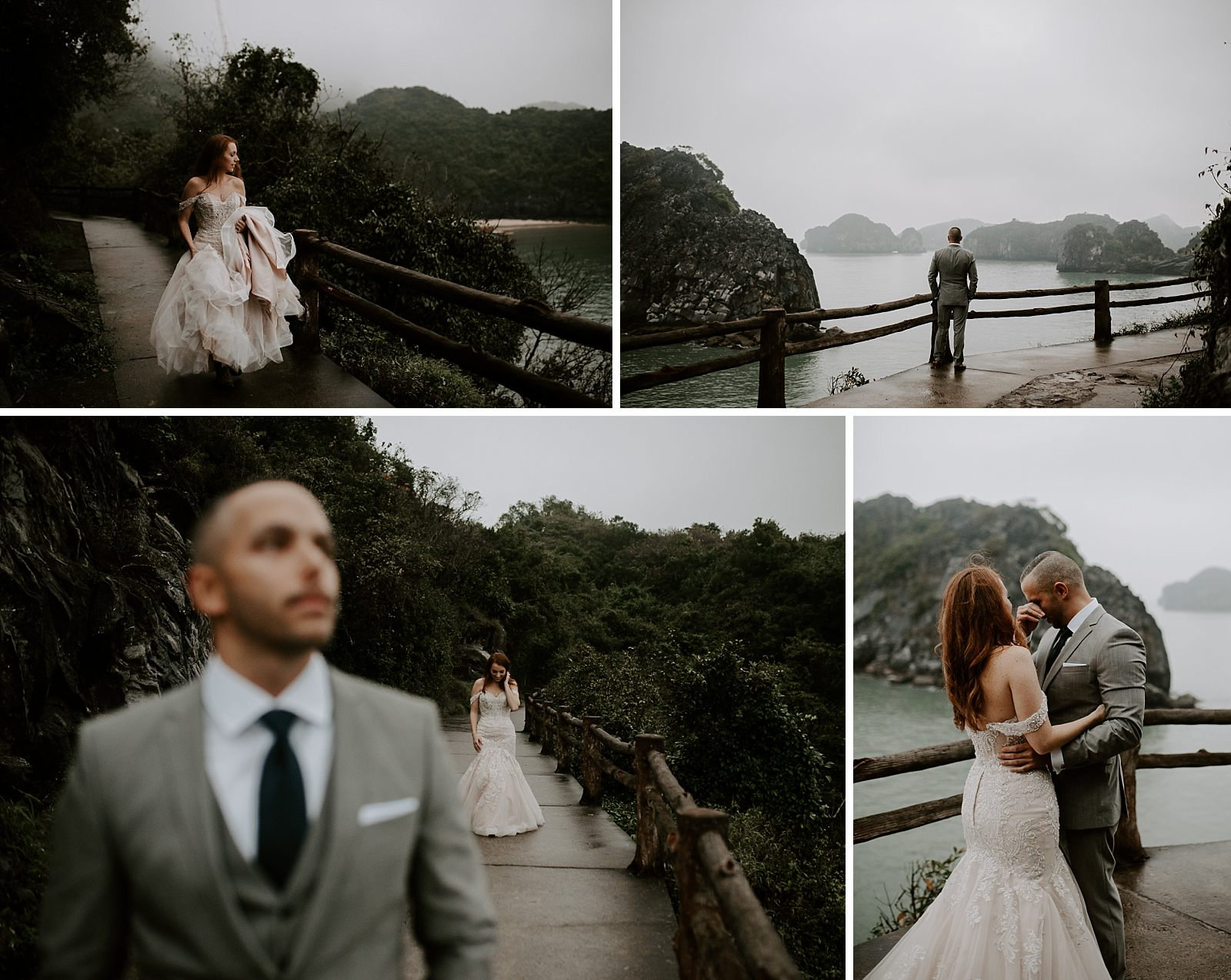 bride and groom have a unique elopement in vietnam