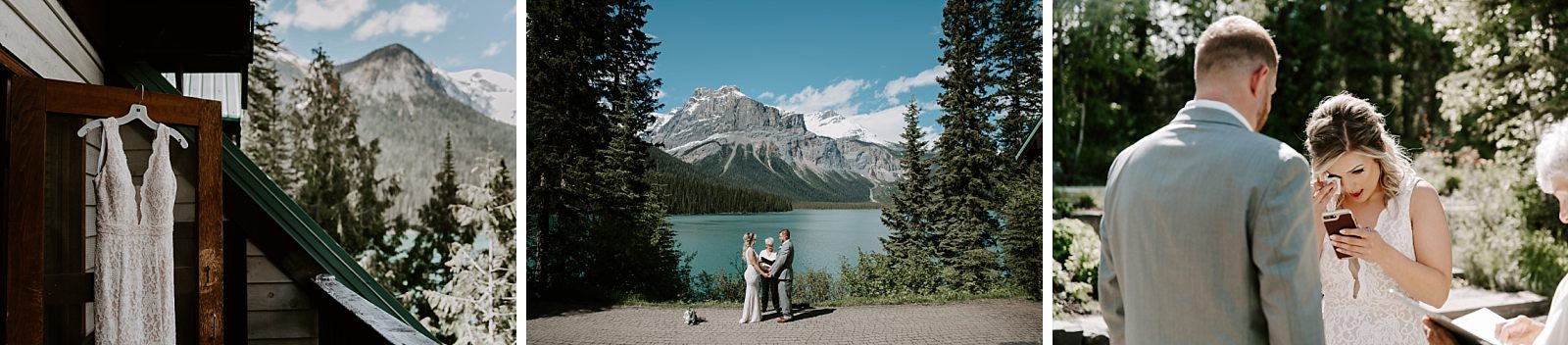 bride and groom have unique elopement in Banff, Canada